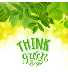 think green poster vector image