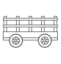 Trail tractor icon outline style vector