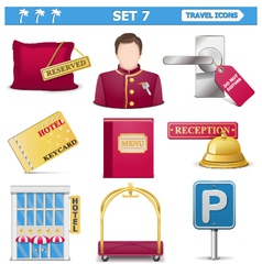 Travel Icons Set 7 vector image
