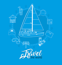 Travel the world vector