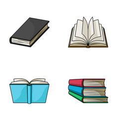 Various kinds of books books set collection icons vector