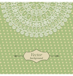 Vintage card design with floral pattern vector image