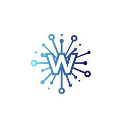 w share letter logo icon design vector image