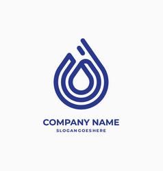 Water drop - business logo template concept vector