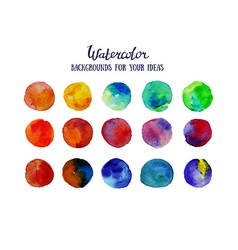 Watercolor circles Colorful template for your vector image