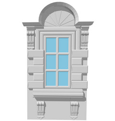 Window with an arch vector