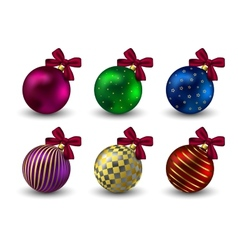 Christmas balls background holiday winter hristmas vector image vector image