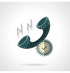Flat color handset icon vector image vector image