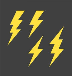 Lightning symbols set vector image