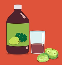 noni juice vector image vector image