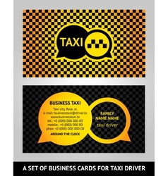 Visiting cards taxi vector image vector image