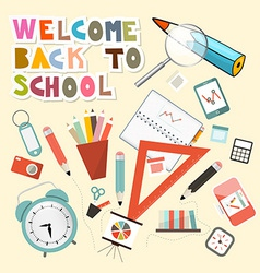 Back to School with School Items vector image vector image