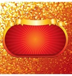 Bright Retro Gold Sign vector image