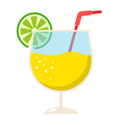 cocktail flat icon food and drink alcohol sign vector image