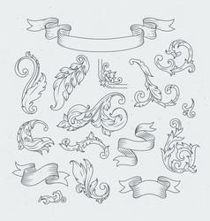 decorative elements in baroque style victorian vector image vector image
