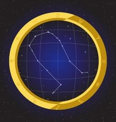 gemini star horoscope zodiac in fish eye vector image vector image