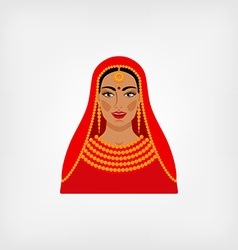 Indian woman in traditional clothes vector