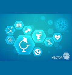 medical blue background design vector image vector image