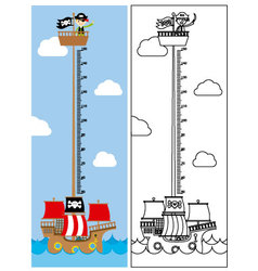 Pirate ship meter wall vector image