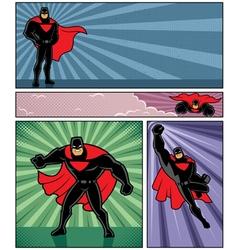 Superhero Banners 4 vector image vector image