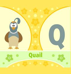 the english alphabet q vector image