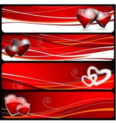 Valentine's day banner vector image vector image