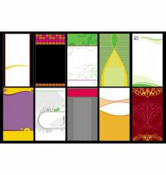 collection business cards templates vector image vector image