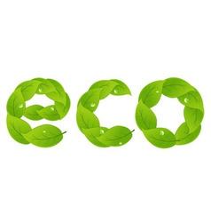eco design element vector image vector image