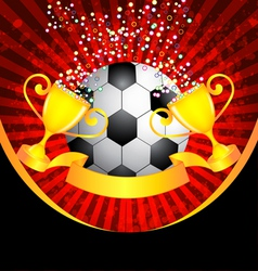 football and trophy vector image vector image