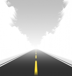 straight road in motion vector image vector image