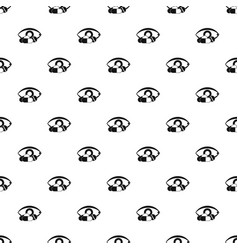 treatment of the eye pattern vector image