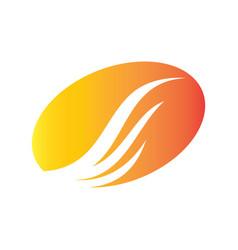 circle wing icon abstract logo vector image vector image
