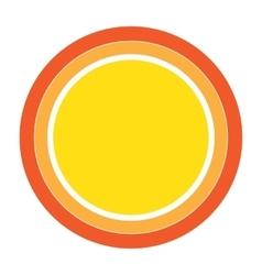 Colorful Sun icon design element vector image