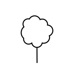 cotton candy icon vector image