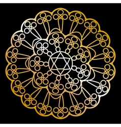 gold napkin on black vector image vector image