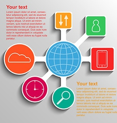 Infographic communication network connection vector