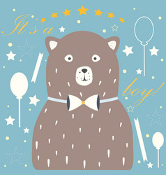 its a boy congratulations card baby shower theme vector image