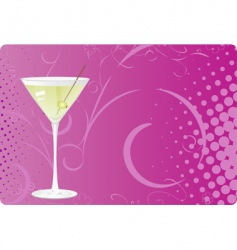 martini background vector image