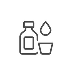 medicine bottle line icon vector image vector image
