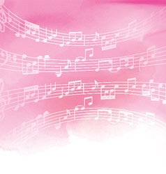 music notes on watercolor background 1606 vector image