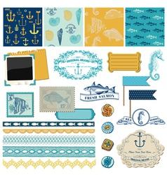 Nautical Sea Theme vector image vector image