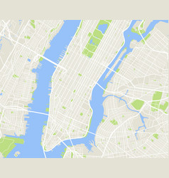 New york and manhattan urban city map vector