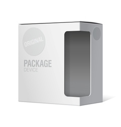 Realistic Package Cardboard Box with window vector image