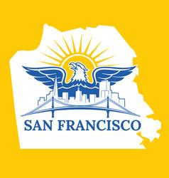 san francisco map color vector image