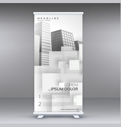 white roll up standee banner design for your vector image vector image