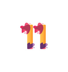 11 years anniversary celebration flux template vector