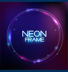 abstract neon finak sale template on dark vector image