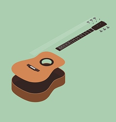 Acoustic guitar isometric flat design vector image vector image