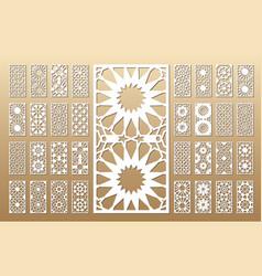 arabic geometric panel vector image