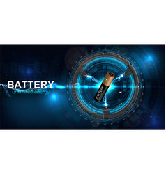 battery with electric charge vector image